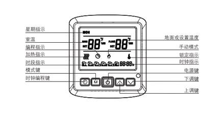 ab8002电采暖数字温控器