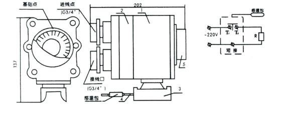 防爆温度控制器 日期:2015-05-25 作者:管理员 防爆温度控制器  产品名称:防爆温度控制器 产品型号:BJW防爆温度控制器 产品价格:电议 商标品牌:安邦 产品认证:EX 主要用途:适用于二区爆炸性气体混合物T1-T4温度级别场合自动控制管线或罐体的介质工艺温度。 详细说明: 防爆温度控制器按照GB3836-2000《爆炸性环境用防爆电气设备》的有关规定制造,防爆标志EBT4,产品分陆用和船用两类,适用于二区爆炸性气体混合物T1-T4温度级别场合自动控制管线或罐体的介质工艺温度。 1、 产品